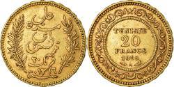 World Coins - Coin, Tunisia, Ali Bey, 20 Francs, 1899, Paris, , Gold, KM:227
