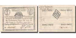World Coins - Banknote, ITALIAN STATES, 10 Paoli, 1798, 1798, KM:S540d, AU(50-53)