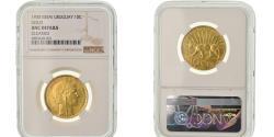 World Coins - Coin, Uruguay, 10 Centesimos, 1930, Paris, NGC, UNC Details, Gold, KM:E10