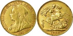 World Coins - Coin, Great Britain, Victoria, Sovereign, 1900, , Gold, KM:785