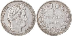 World Coins - Coin, France, Louis-Philippe, 5 Francs, 1847, Strasbourg, , Silver