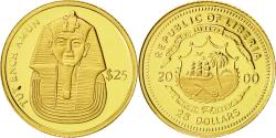 World Coins - Liberia, 25 Dollars, Toutânkhamon, 2000, MS(65-70), Gold