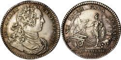World Coins - France, Token, Louis XV, Artillerie, History, 1734, , Silver