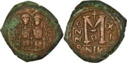 Ancient Coins - Coin, Justin II, Follis, 575-576, Nicomedia, , Copper, Sear:369