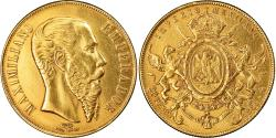 World Coins - Coin, Mexico, Maximilian, 20 Pesos, 1866, Mexico City, Rare, , Gold