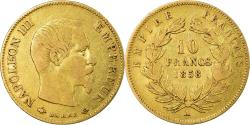 World Coins - Coin, France, Napoleon III, 10 Francs, 1858, Paris, , Gold, KM 784.3