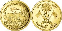 World Coins - Coin, MALDIVE ISLANDS, Poisson-clown, 20 Rufiyaa, 2011, , Gold