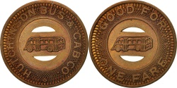 Us Coins - United States, Token, Hutchinson Bus & Cab Company