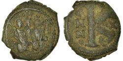 Ancient Coins - Coin, Justin II, Half Follis, 573-574, Constantinople, , Copper