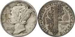 Us Coins - UNITED STATES, Mercury Dime, Dime, 1941, U.S. Mint, KM #140, , Silver,.