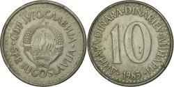 World Coins - Coin, Yugoslavia, 10 Dinara, 1983, , Copper-nickel, KM:89