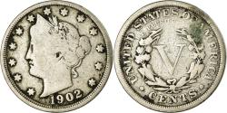 Us Coins - Coin, United States, Liberty Nickel, 5 Cents, 1902, U.S. Mint, Philadelphia