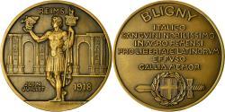 World Coins - France, Medal, Bligny, Reims, Politics, Society, War, 1918, Lavrillier,