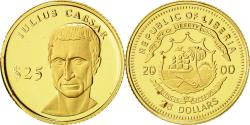 World Coins - Liberia, 25 Dollars, César, 2000, American Mint, MS(65-70), Gold, KM:631