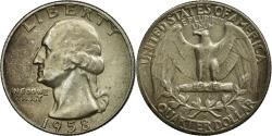 Us Coins - Coin, United States, Washington Quarter, Quarter, 1958, U.S. Mint, Philadelphia