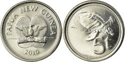 World Coins - Coin, Papua New Guinea, 5 Toea, 2010, , Nickel plated steel,  KM:3a