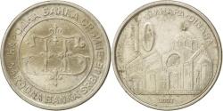 World Coins - SERBIA, 10 Dinara, 2003, KM #37, , Copper-Nickel-Zinc, 26, 7.85