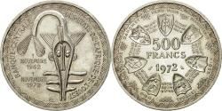 World Coins - Coin, West African States, 500 Francs, 1972, MS(60-62), Silver, KM:7