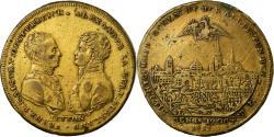 World Coins - Russia, Medal, Bataille de Leipzig, Alexandre Ier et François I, 1813, Steiner