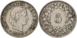 World Coins - Switzerland, 5 Rappen, 1929, Bern, , Copper-nickel, KM:26
