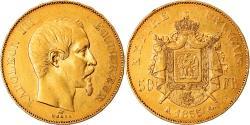 World Coins - Coin, France, Napoleon III, Napoléon III, 50 Francs, 1855, Paris,