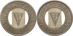 Us Coins - United States, Token, Penn Transit Company