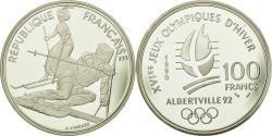 World Coins - Coin, France, Slalom Moderne, 100 Francs, 1990, , Silver, KM:984