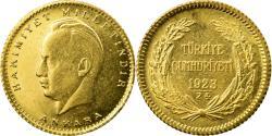 World Coins - Coin, Turkey, 25 Kurush, 1947, , Gold, KM:875