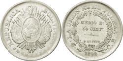 World Coins - Coin, Bolivia, 50 Centavos, 1/2 Boliviano, 1898, , Silver, KM:161.5