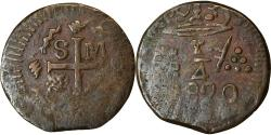 World Coins - Coin, Colombia, 1/4 Réal, 1820, Santa Marta, , Copper, KM:B4