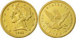 Us Coins - Coin, United States, Coronet Head, $5, Half Eagle, 1841, Dahlonega,