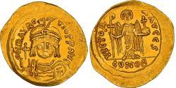Coin, Maurice Tiberius, Solidus, 583-602, Constantinople, AU(55-58), Gold