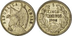 World Coins - Coin, Chile, 5 Centavos, 1906, , Silver, KM:155.2