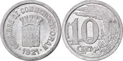 World Coins - Coin, Algeria, Chambre de Commerce, Oran, 10 Centimes, 1921, , Aluminium
