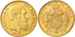 Ancient Coins - Coin, Belgium, Leopold II, 20 Francs, 20 Frank, 1877, , Gold, KM:37