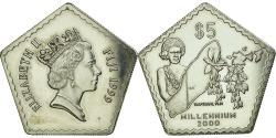 World Coins - Coin, Fiji, Elizabeth II, 5 Dollars, 1999, , Silver, KM:80