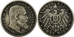 World Coins - Coin, German States, WURTTEMBERG, Wilhelm II, 2 Mark, 1903, Freudenstadt