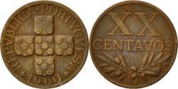 World Coins - Portugal, 20 Centavos, 1960, , Bronze, KM:584