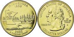 Us Coins - Coin, United States, Minnesota, Quarter, 2005, U.S. Mint, , Gold plated