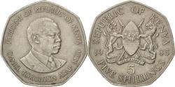World Coins - KENYA, 5 Shillings, 1985, British Royal Mint, KM #23, , Copper-Nickel,.