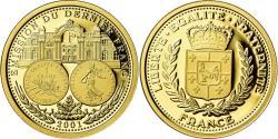 World Coins - France, Medal, Emission du Dernier Franc, 2001, , Gold