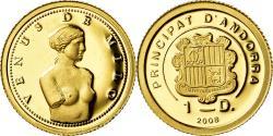 World Coins - Coin, Andorra, Vénus de Milo, Diner, 2008, , Gold