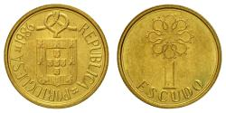 World Coins - Coin, Portugal, Escudo, 1986, EF(40-45), Nickel-brass, KM:631