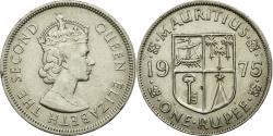 World Coins - Coin, Mauritius, Elizabeth II, Rupee, 1975, AU(50-53), Copper-nickel, KM:35.1