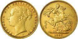 World Coins - Coin, Australia, Victoria, Sovereign, 1887, Sydney, , Gold, KM:7