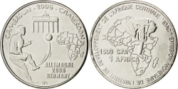 World Coins - CAMEROON, 1500 CFA Francs-1 Africa, 2006, Africa, KM #29, , Nickel Plated.