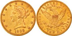 Us Coins - Coin, United States, Coronet Head, $10, Eagle, 1902, U.S. Mint, Philadelphia