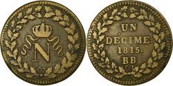 World Coins - Coin, France, Napoleon I, Decime, 1815, Strasbourg, , Bronze