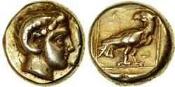 Ancient Coins - Coin, Lesbos, Mytilene, Hekte, 377-326 BC, , Electrum, HGC:6-1030