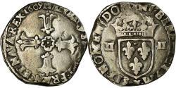World Coins - Coin, France, Henri IV, 1/4 Ecu, 1609, Bordeaux, , Silver, Sombart:4686
